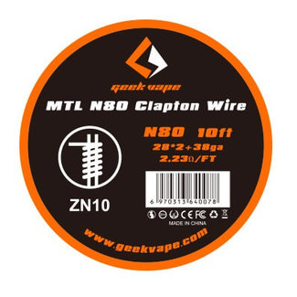 Geek Vape GeekVape 3 Meter N80 MTL Clapton Wire (0.32mm*2+0.26mm) Wickeldraht - ZN10