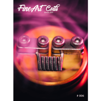 FineArt Coils FineArt Coils - Handmade #006 Half Staggered Fused Clapton