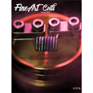 FineArt Coils FineArt Coils - Handmade #016 Fine Fused Clapton Coils