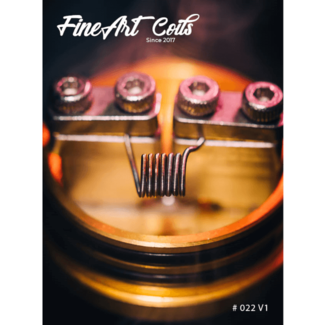 FineArt Coils FineArt Coils - Handmade #022 MTL Clapton V1 Coils
