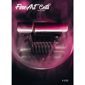 FineArt Coils FineArt Coils - Handmade #020 Half Staggered Fused Clapton