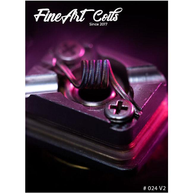 FineArt Coils FineArt Coils - Handmade #024 2-Core Alien V2 Dotshell DTL