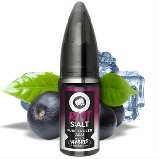 RIOT LABS LIQUIDS Riot Salt - Hybrid Nicotine - Black Edition - Pure Frozen Acai - 10ml