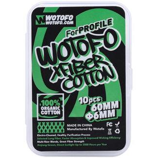WOTOFO Wotofo Xfiber Cotton für Profile X10 (6mm) Wickelwatte