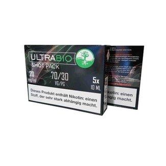 UltraBio ULTRABIO  70/30 Nic Shots 20mg 5x10ml