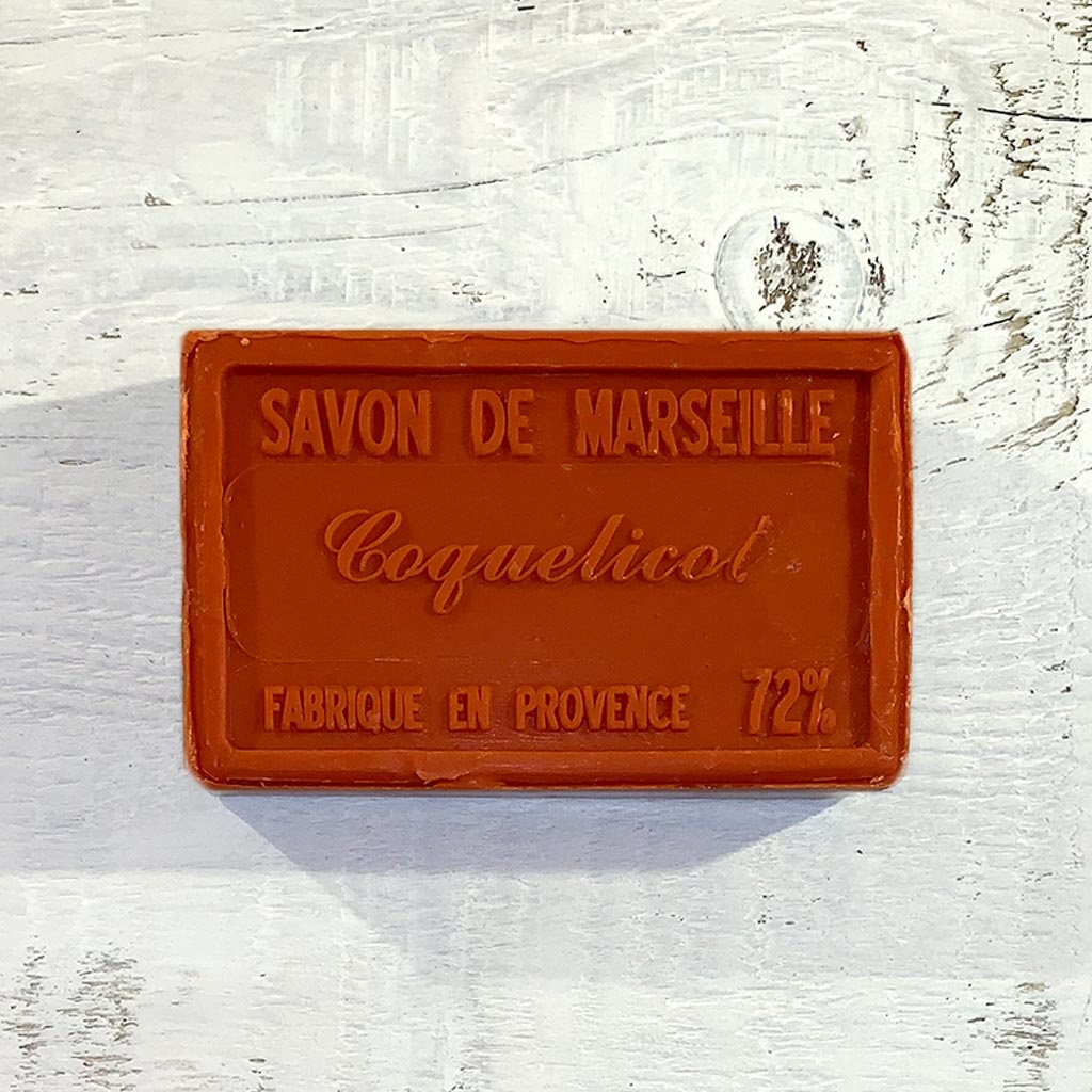 "Naturseife "" Mohnblüte"" 100 g , Savon de Marseille Seife ""Coquelicot"""