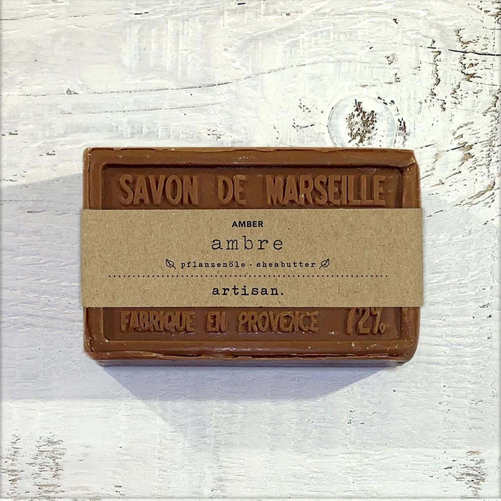 "Naturseife  ""Amber"" 100 g, Savon de Marseille Seife ""Ambre"""