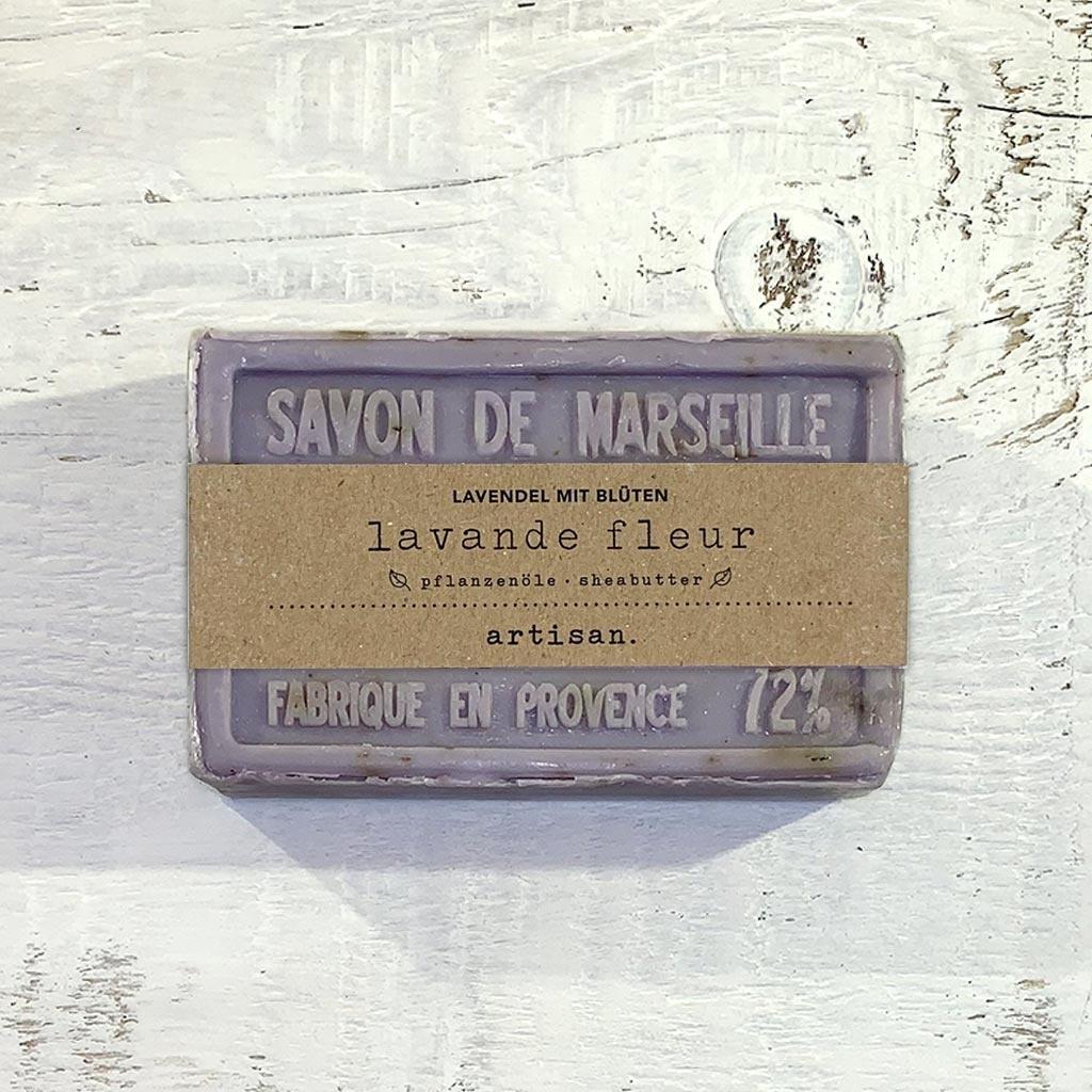 """Seife """"Lavendel mit Blüten"""" 100 g, Savon de Marseille """"Lavande Fleur"""""""