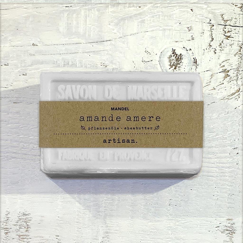 "Naturseife ""Mandel"" 100 g, Savon de Marseille Seife ""Amande Amere"""