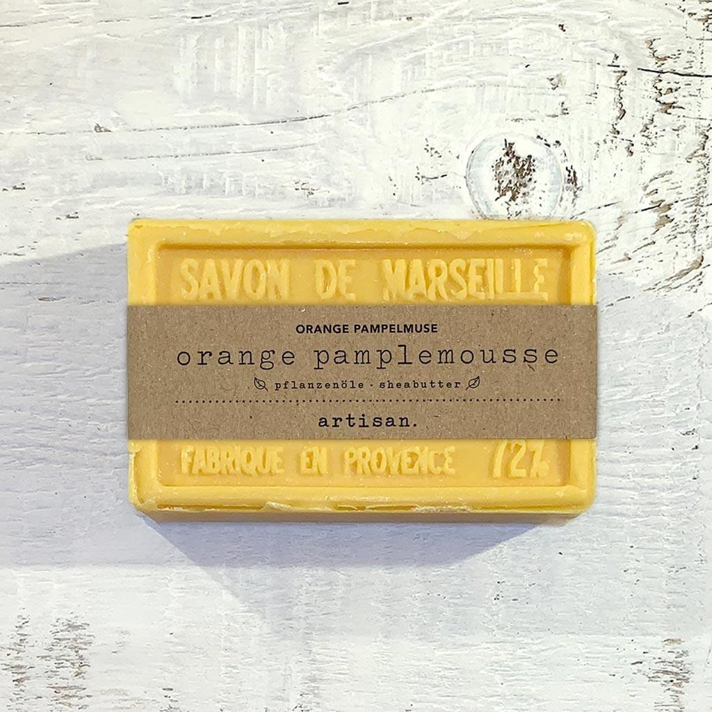 "Naturseife ""Orange-Pampelmuse "" 100 g, Savon de Marseille Seife ""Orange pamplemousse"""