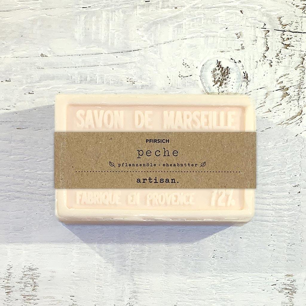 "Naturseife  ""Pfirsich"" 100 g, Savon de Marseille Seife ""Peche"""