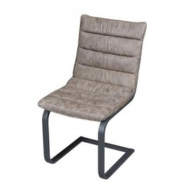 PTMD Chair Franky faux leather black or taupe