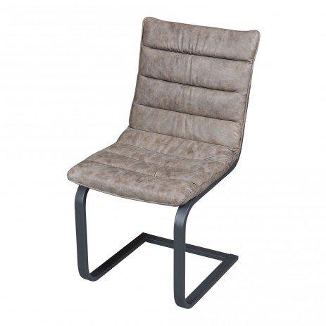 PTMD Franky Stuhl Leder schwarz oder taupe