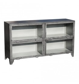 PTMD Simple metal gray sideboard