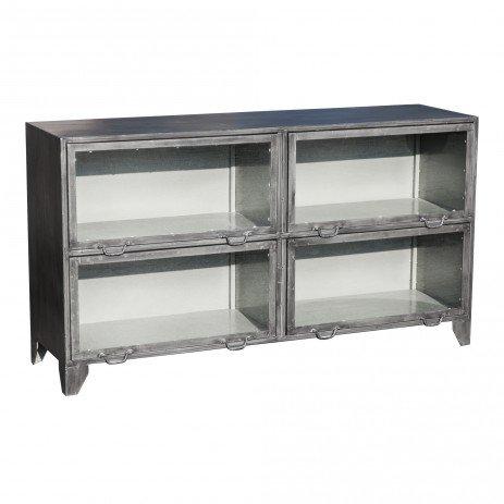 PTMD Simple metal grijs dressoir