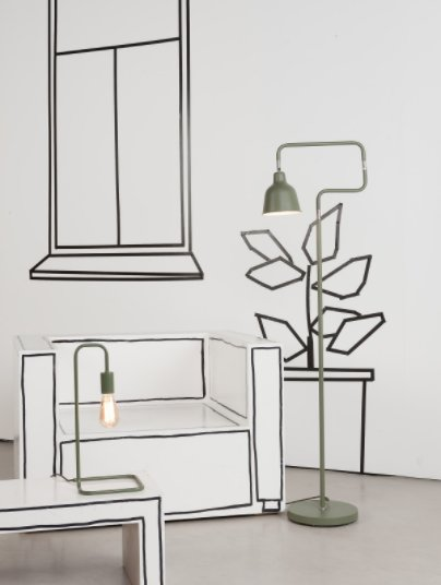 Its About Romi Accessoires.London Table Lamp Olive Green