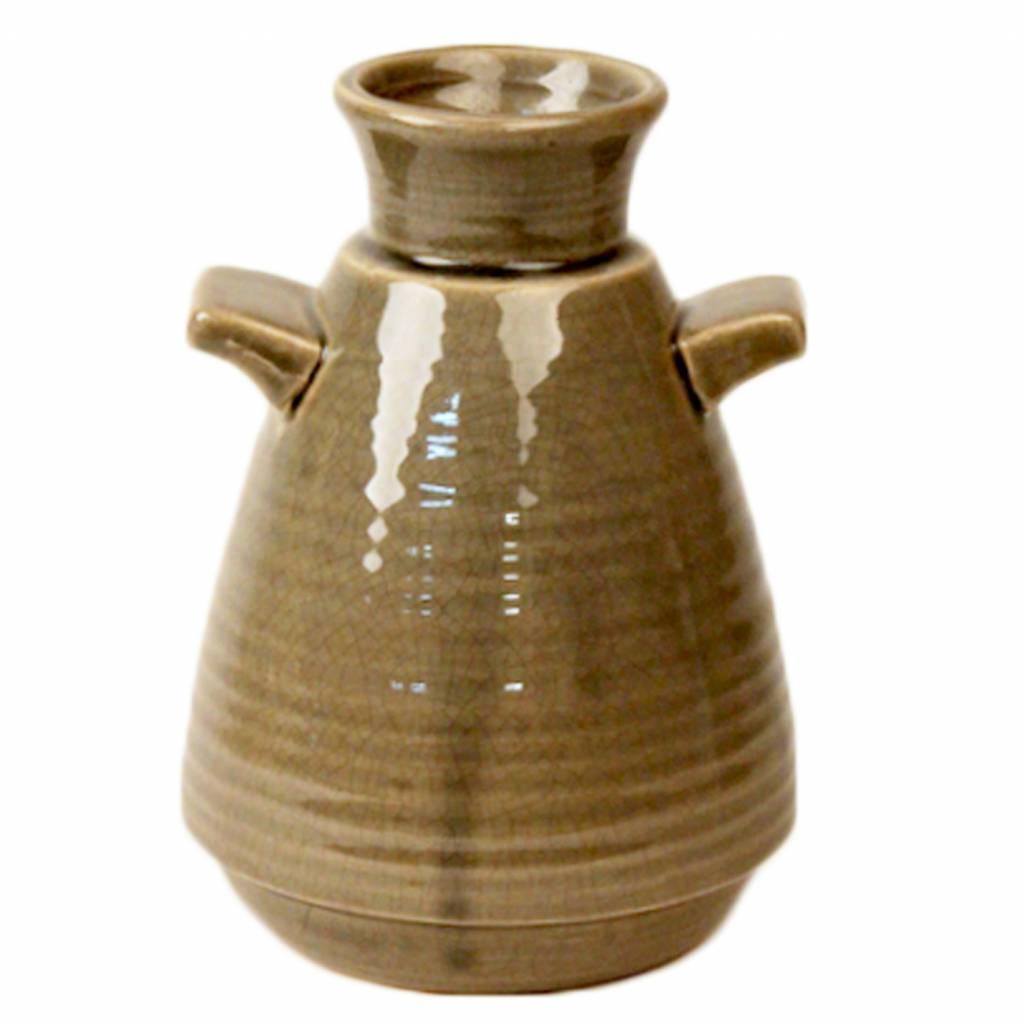 Dome Deco Vase Ceramic with handle