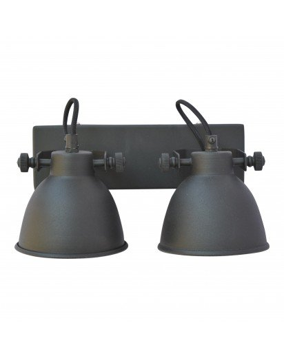 Urban Interiors STOCK SALE Wall lamp Industrial double Vintage Black