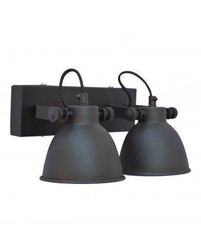 Urban Interiors STOCK SALE Wandlamp Industrielles Doppel Altschwarz