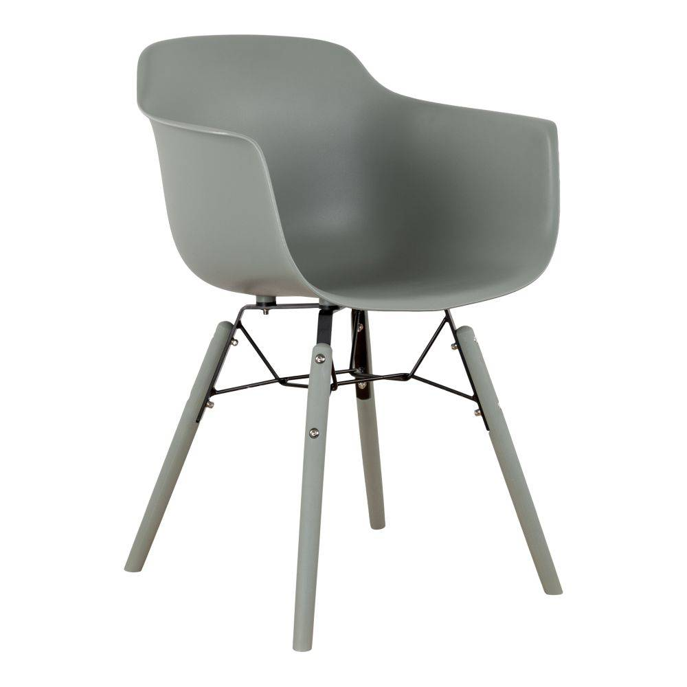 Pracht Label Ole dining room chair with arm moss gray