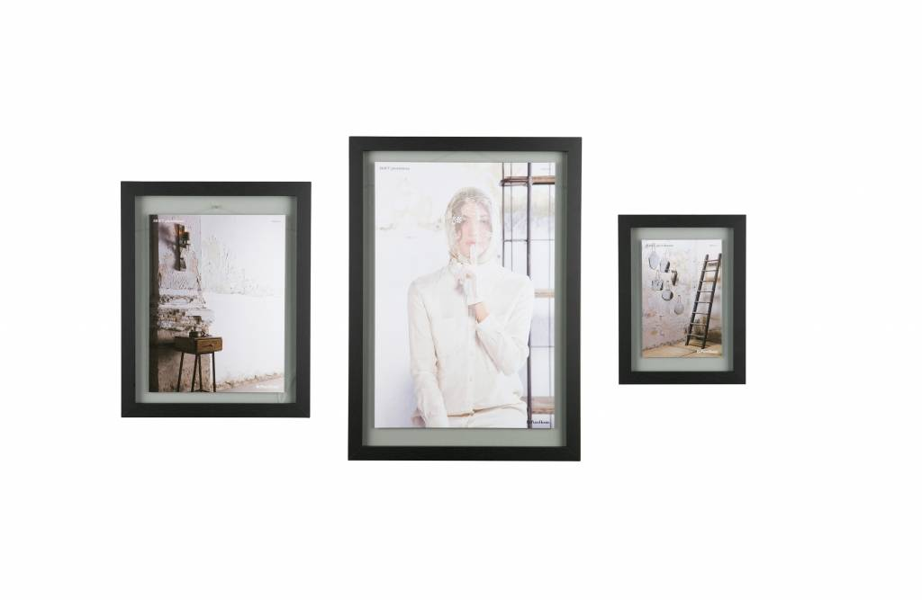 BePureHome Shift photo frame with wooden border