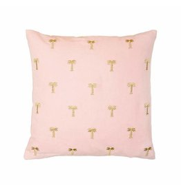 &Klevering Kissen Palme gold pink 40x40CM