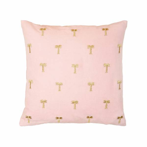 &Klevering cushion palm tree gold pink 40x40CM