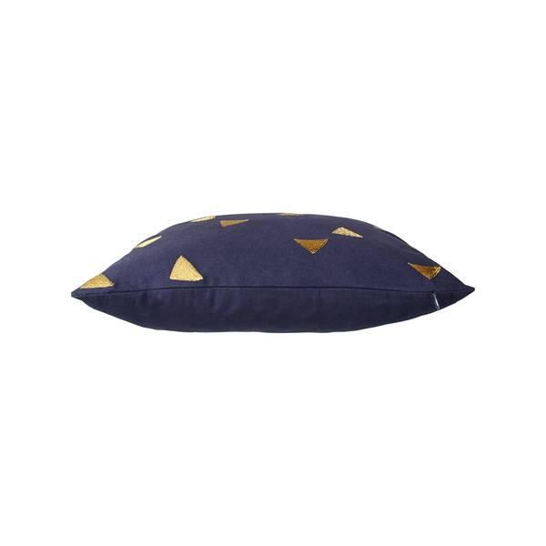 &Klevering cushion triangle blue 40x40CM