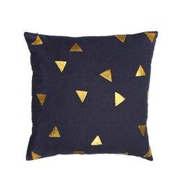 &Klevering kussen triangle blue 40x40CM