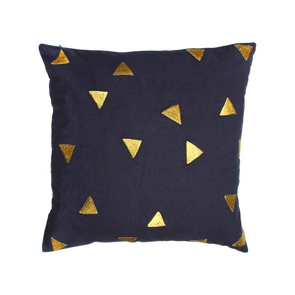 &Klevering Kissen Dreieck blau 40x40CM