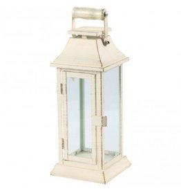 PTMD Casey lantaarn wit met houten handvat L
