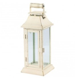 PTMD Casey lantern white with wooden handle L