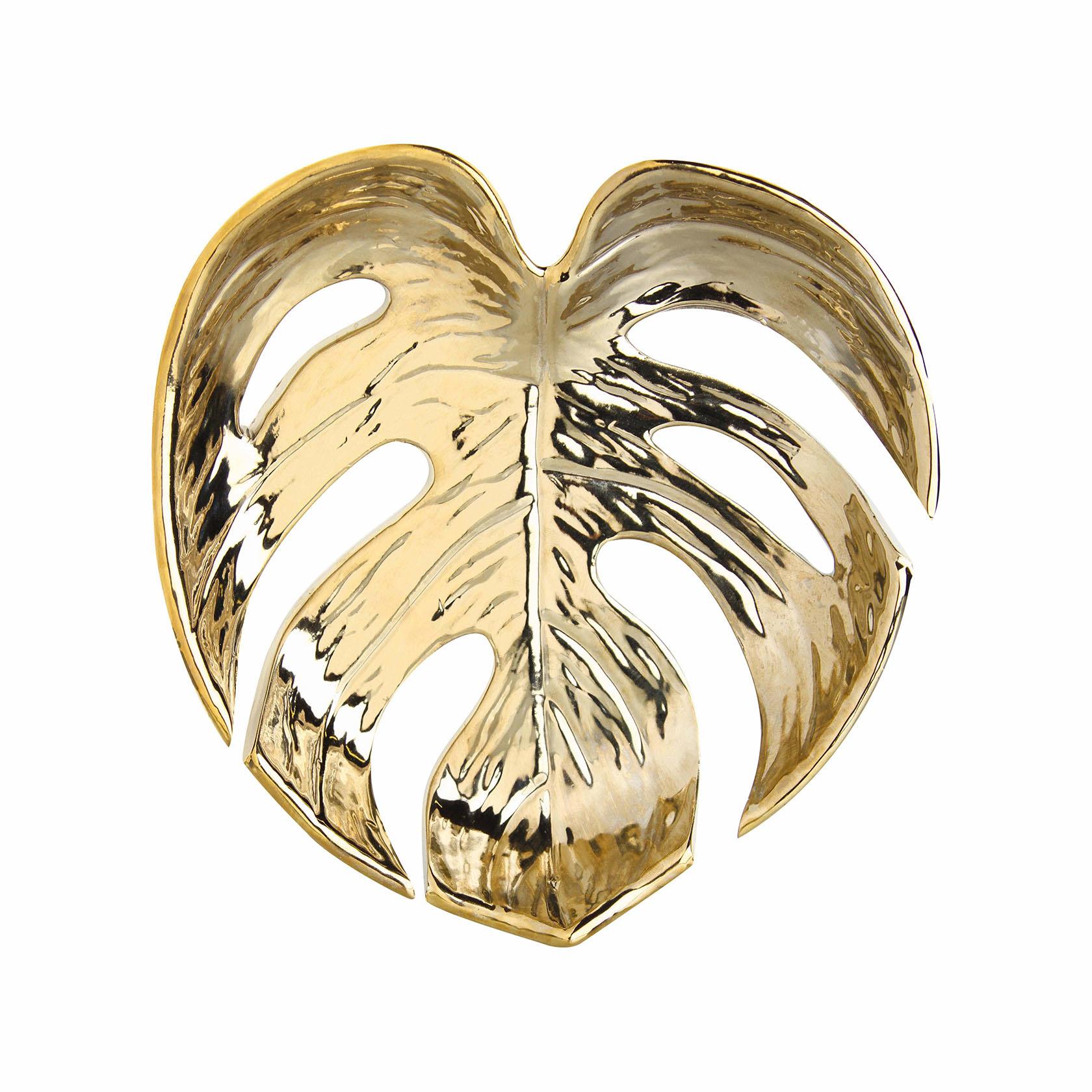 &Klevering Bowl leaf gold