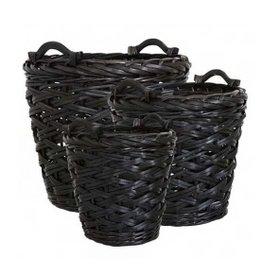Affari Collect basket zwart (3 afmetingen)