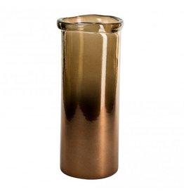 PTMD Melo brown cylinder vaas L