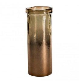 PTMD Melo brown cylinder vase M