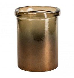 PTMD Melo braun Zylinder Vase S