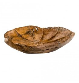 PTMD Teak Wood natural bowl L