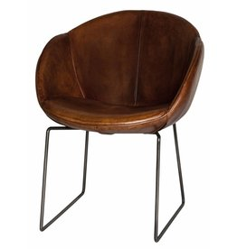 Lifestyle Los Angeles Leder Dining Chair Light Brown