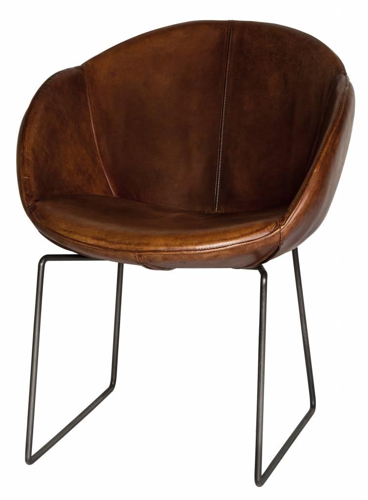 Lifestyle Los Angeles Leder Dining Chair Light Brown