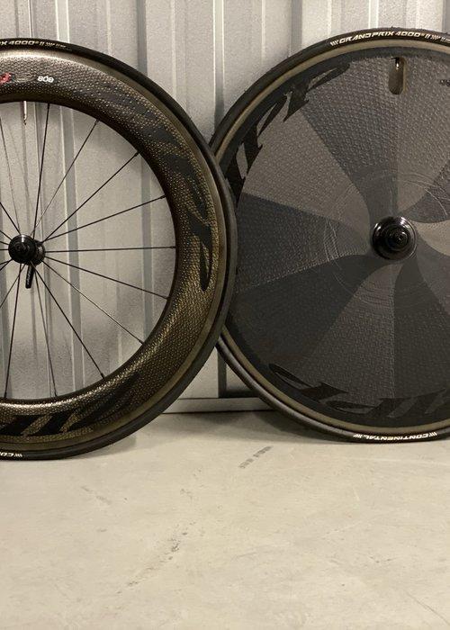 Zipp Set 808 voorwiel+ Disc full carbon achterwiel