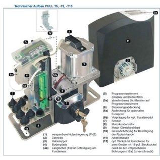 Tousek Schuifhekmotor Tousek Pull T10 230v