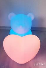 Ausgefallenes LED Set Bär + Herz, kabellos mit Farbwechsel