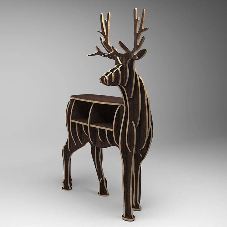 Decor Of World Hirsch 3D Puzzle Holzregal