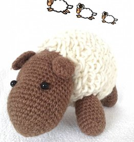 Kuscheliges Schaf, handgestrickt aus Nepal, Wolle, 25 cm Länge