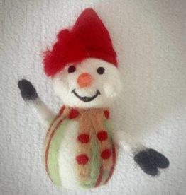 Kleiner Schneemann aus Filz