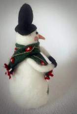 Großer Schneemann aus Filz