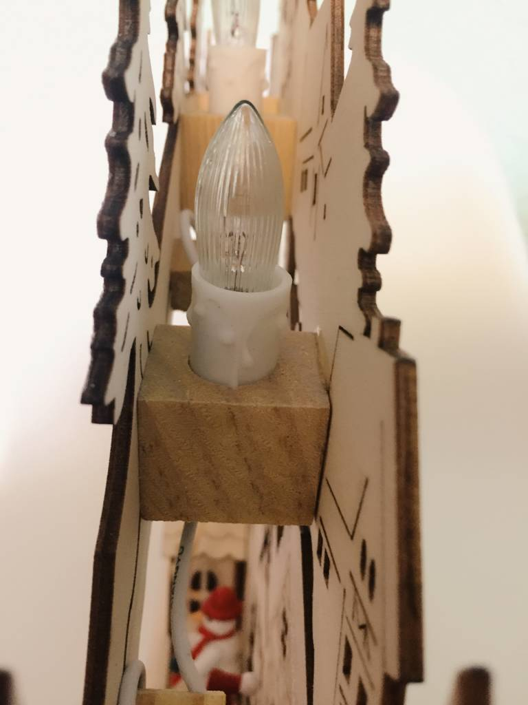 3D Lichterbogen / Schwibbogen Weihnachtsdeko, beleuchtet