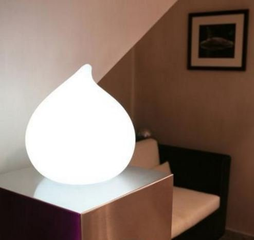 LED Pfirsich Beleuchtung, kabellos mit Farbwechsel, Fernbedienung, Akku,  30 cm x 30 cm x 31 cm