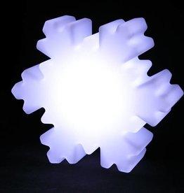 LED Schneeflocken Beleuchtung , Kabellos mit Farbwechsel, Fernbedienung, Akku, 35 cm x 40 cm x 12 cm